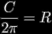 C/2pi=R